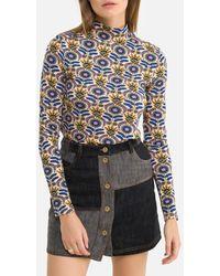 Scotch & Soda Camiseta estampada de cuello redondo y manga larga - Multicolor