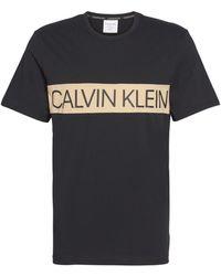 Calvin Klein Camiseta de pijama Statement - Negro