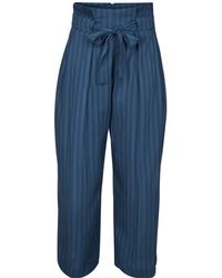 Numph - Loose Fit Wide Leg High Waist Trousers - Lyst