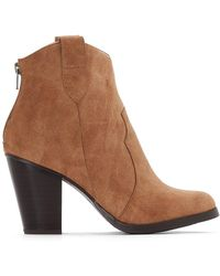 La Redoute - High-heeled Cowboy Boots - Lyst