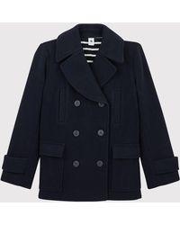 Petit Bateau Abrigo de lana - Azul