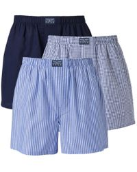 Polo Ralph Lauren - Pack Of 3 Poplin Boxer Shorts - Lyst