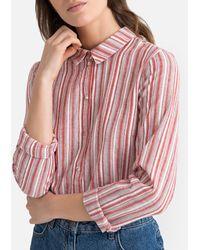 Vero Moda Camisa a rayas, de manga larga - Rojo