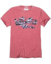 Pepe Jeans - Cotton Crew-neck T-shirt - Lyst