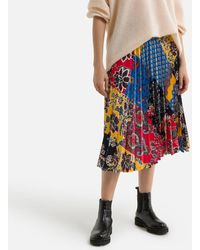 Gerard Darel Jupe plissée imprimée longue en crêpe - Multicolore