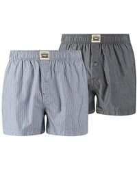 Levi's - Pack Of 2 Pairs Of Striped And Chambray Briefs - Lyst