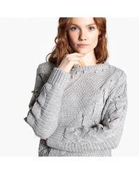 Lyst Tibi Pom Merino Wool Sweater In Blue