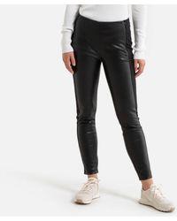 Benetton Pantalon slim bi-matière - Noir