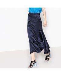 La Redoute - Silk Style Ruffled Midi Skirt - Lyst