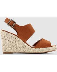 La Redoute - High Heeled Reptile Effect Sandals - Lyst