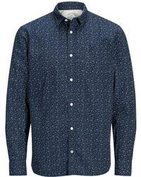 Jack & Jones - Printed Long-sleeved Shirt - Lyst