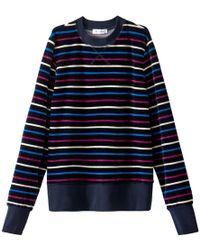 La Redoute - Striped Velour Sweatshirt - Lyst