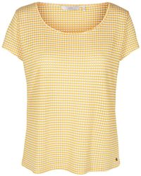 Numph - Checked Crew Neck T-shirt - Lyst