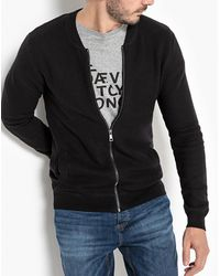 La Redoute - Zip-up Cardigan With Bomber-style Collar In Cotton - Lyst