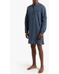 La Redoute Pijama camisero de popelina a rayas - Azul