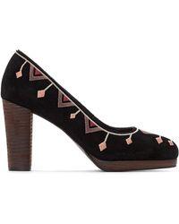 La Redoute - Zapatos de piel con bordados folk - Lyst