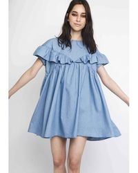 Compañía Fantástica | Plain Short-sleeved Mini Dress | Lyst