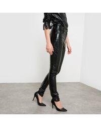 La Redoute - High Waist Wet Look Trousers - Lyst