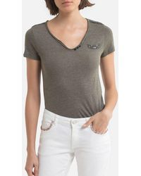 IKKS Tee shirt col v manches courtes - Gris
