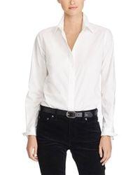 Lauren by Ralph Lauren Chemise à manches longues - Blanc