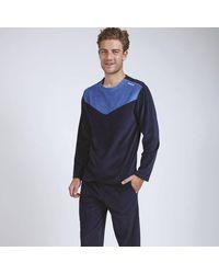 Athena Pijama de terciopelo - Azul