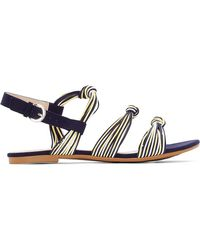 La Redoute - Knotted Thread Detail Sandals - Lyst