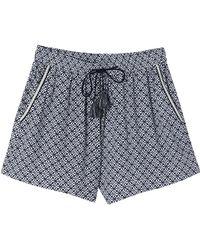 Suncoo - Beatrice Geometric Print Shorts - Lyst