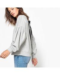 La Redoute - Pleated Sleeve Sweatshirt - Lyst