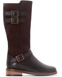 LA REDOUTE | Buckled Two-material Boots, 26-39 | Lyst
