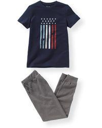 LA REDOUTE | Dual Fabric Pyjamas With Flag Print, 10-16 Years | Lyst