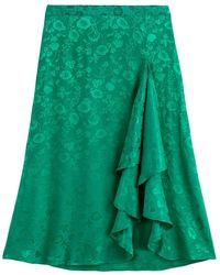La Redoute Falda con volantes, tejido jacquard - Verde