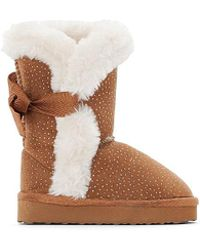 La Redoute - Sparkly Fur-lined Boots, Sizes 19-25 - Lyst