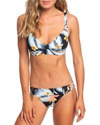 Roxy Bikini con estampado floral - Azul