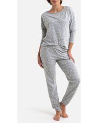 La Redoute Pijama con pantalón de manga larga estampado - Gris