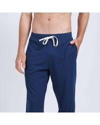 Athena Pijama de algodón - Azul