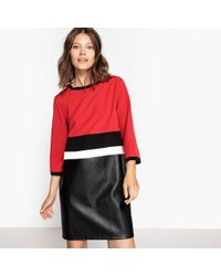La Redoute - Knee-length Dress With 3/4 Length Sleeves - Lyst