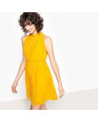 See U Soon - Plain Sleeveless Pleated Mini Dress - Lyst