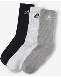 adidas - Pack Of 6 Pairs Of 3 Stripes Socks - Lyst