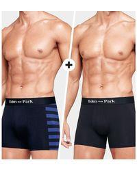 Eden Park Lote de 2 boxers - Azul
