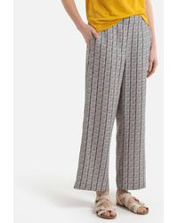 Harris Wilson Pantalon imprimé en lin DICKSON - Gris