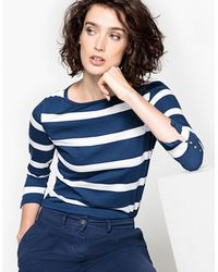 La Redoute - Breton T-shirt With Sleeve Detail - Lyst