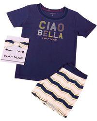 Naf Naf Pyjashort manches courtes Ciao - Bleu