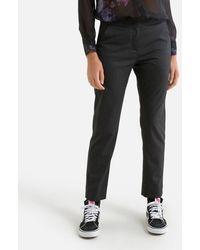 IKKS Pantalon droit taille haute - Noir