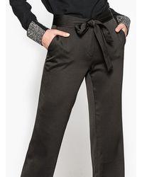 La Redoute - Jacquard Straight Trousers - Lyst