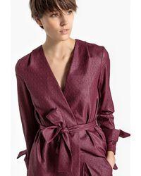 La Redoute - Metallic Look Tie Waist Jacket - Lyst