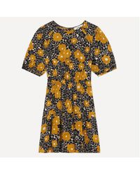Ba&sh Vestido corto, estampado floral BONI - Amarillo