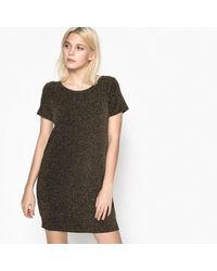 School Rag - Plain Short Straight Dress With Short Sleeves - Lyst