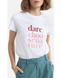 Ekyog Camiseta de cuello redondo y manga corta DRISTANI - Blanco