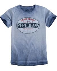 Pepe Jeans - Tee-shirt Effet Usé 8-16 Ans - Lyst