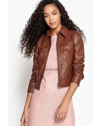 La Redoute - Soft Leather Zip-up Jacket - Lyst